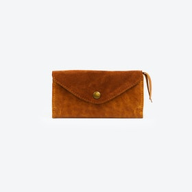 Purse Nachtigall Long in Tan Suede