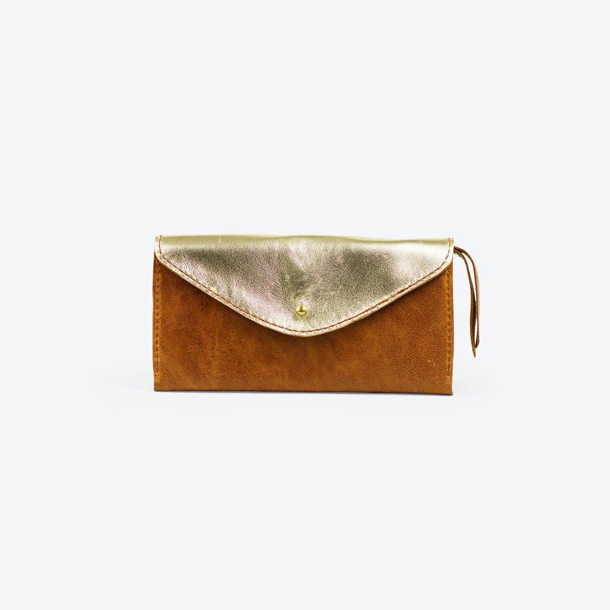 Purse Goldammer Long in Tan Cow Leather