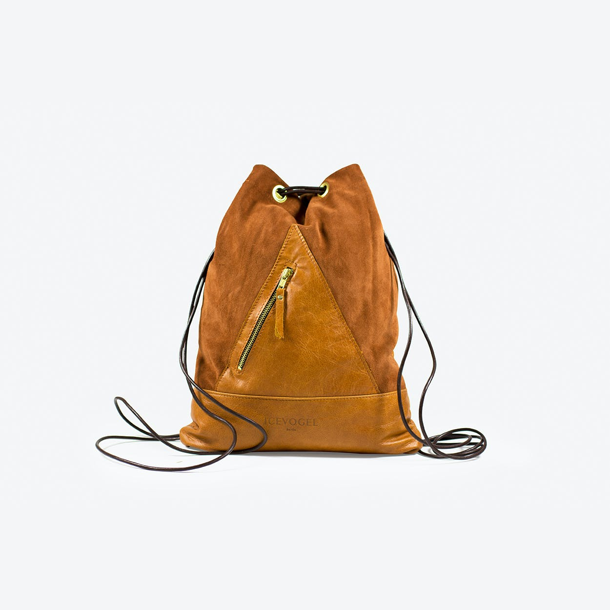 Backpack Nachtigall in Tan Cow Leather and Suede