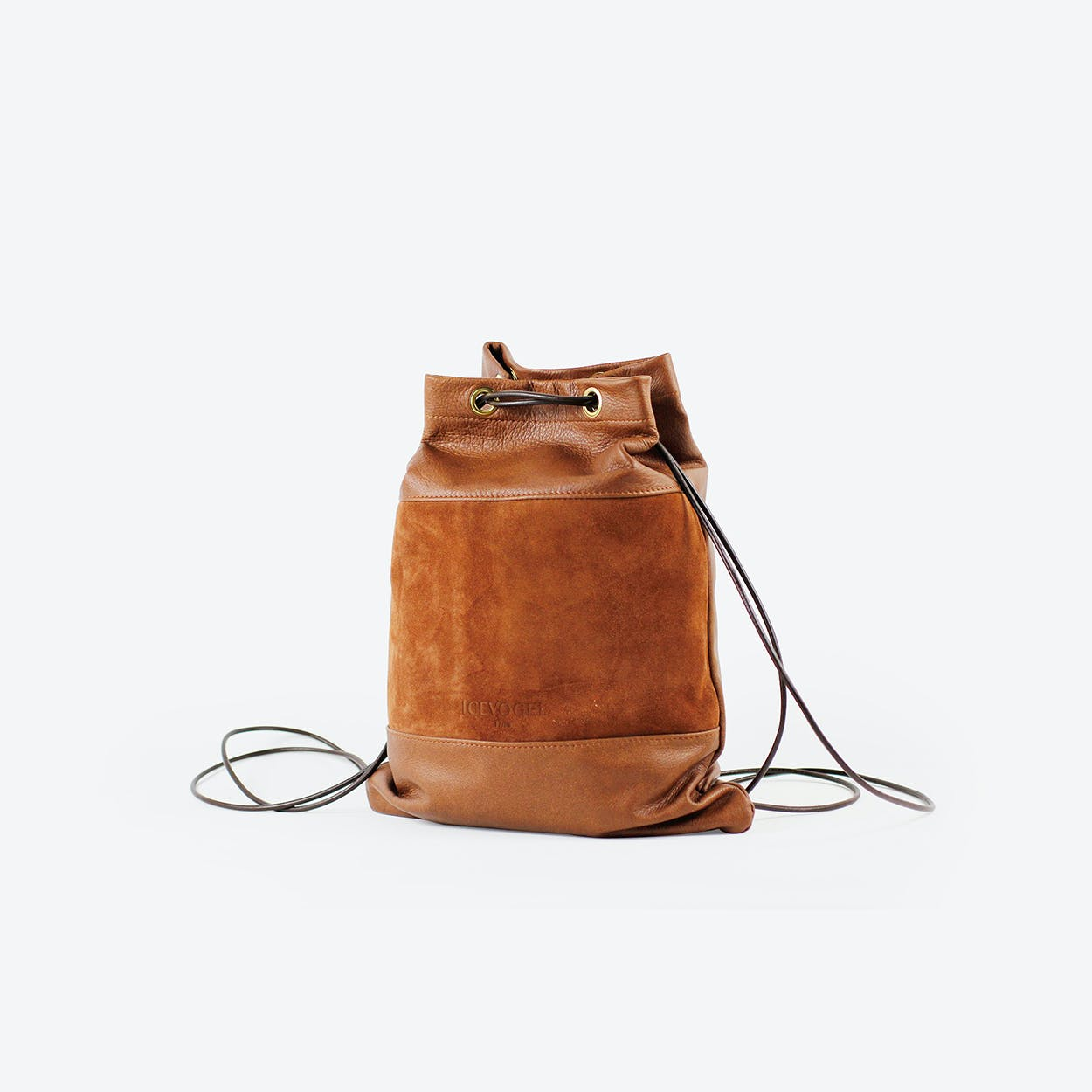 Backpack Zaunkönig in Tan Cow Leather and Suede