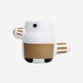 The Pet - Ceramic Pot with Lid / Brown