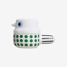 Small Wingtail - Ceramic Pot with Lid / Green