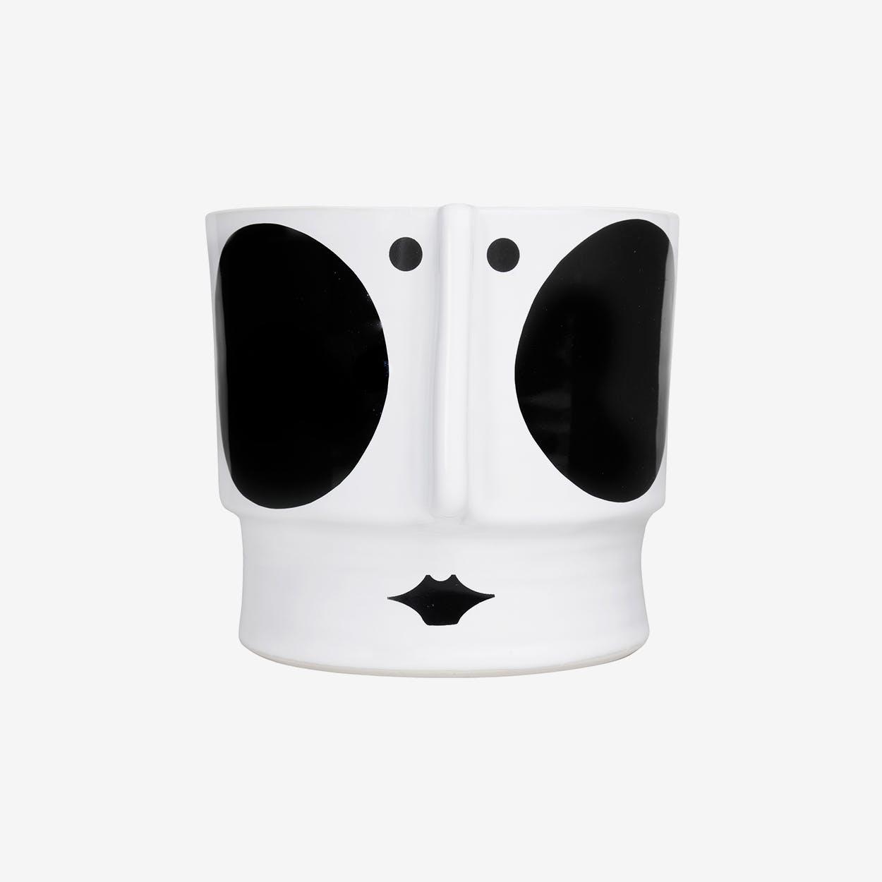 Hedvig Ceramic Pot Large / Black