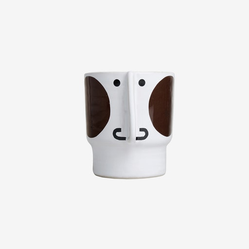 Hugo Ceramic Pot Small / Brown