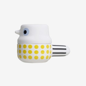 Small Wingtail - Ceramic Pot with Lid / Yellow