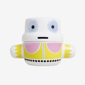 Mum - Ceramic Pot with Lid / Yellow
