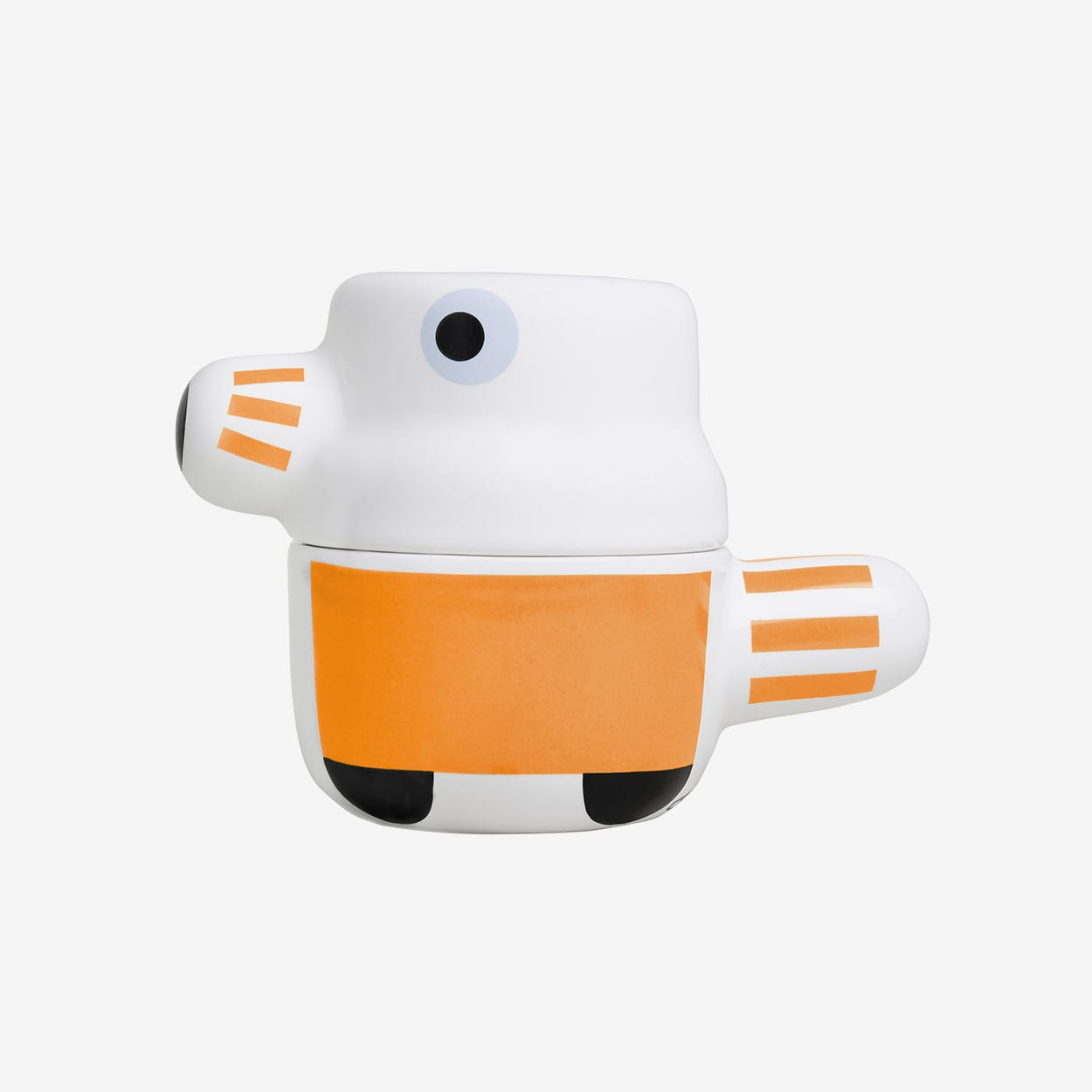 The Pet - Ceramic Pot with Lid / Orange