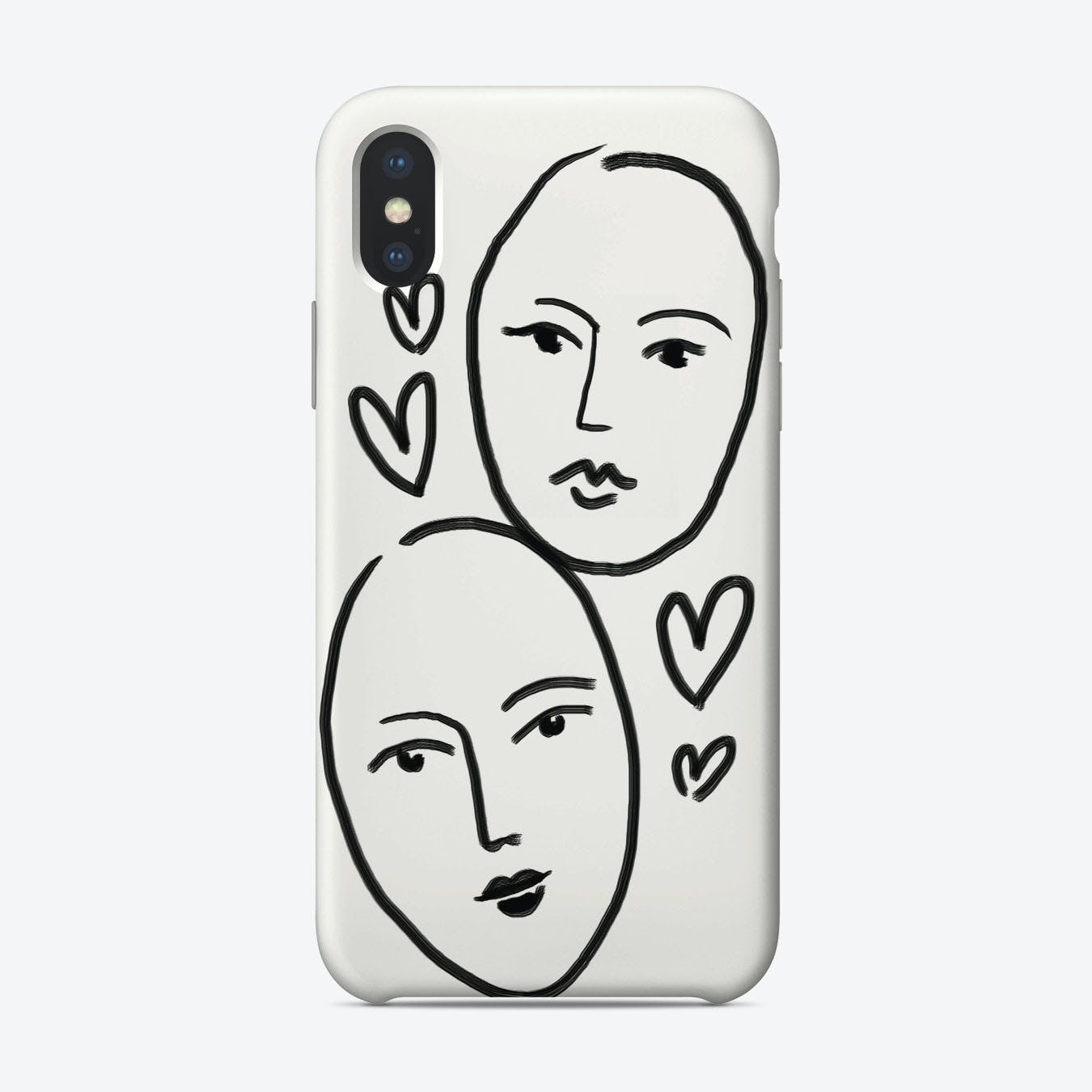 Two Faces iPhone Case
