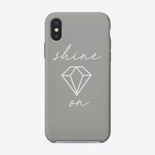 Shine On Grey iPhone Case