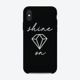 Shine On Black iPhone Case