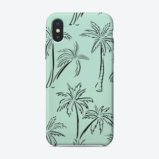 Palm Print Green iPhone Case