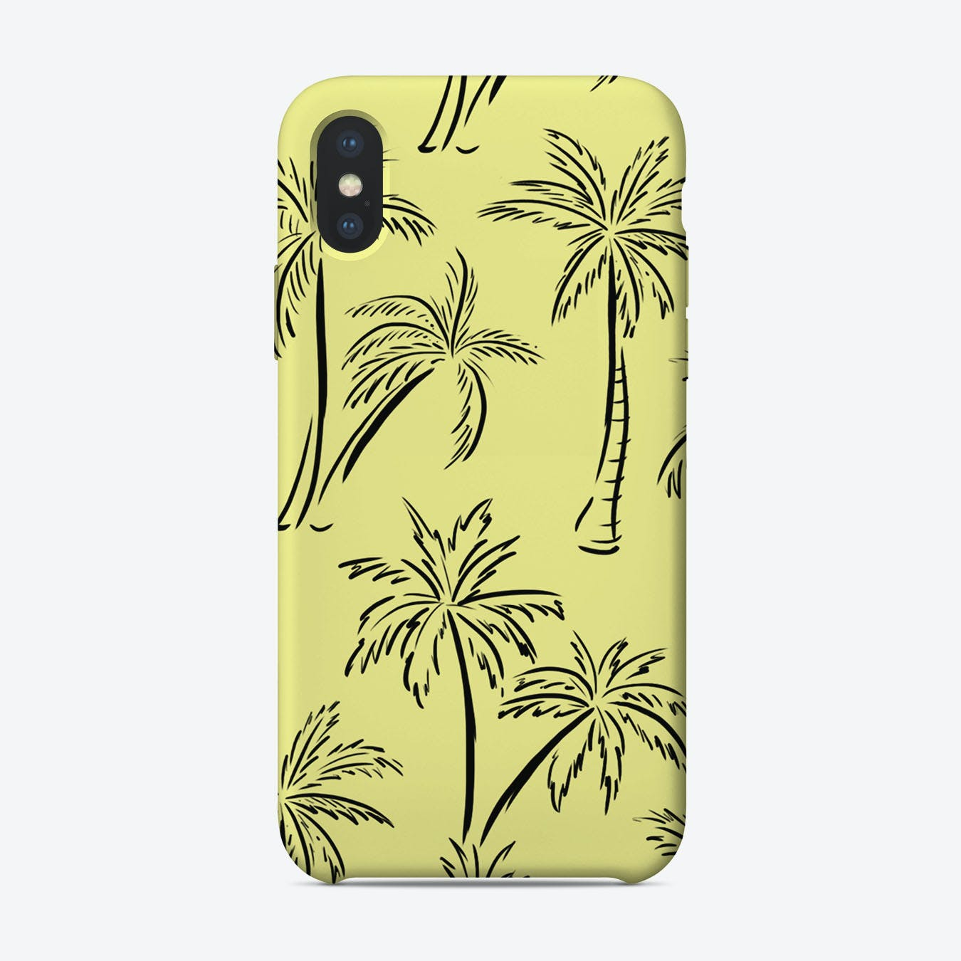 Palm Print Yellow iPhone Case