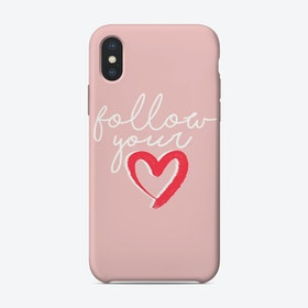 Follow Your Heart iPhone Case