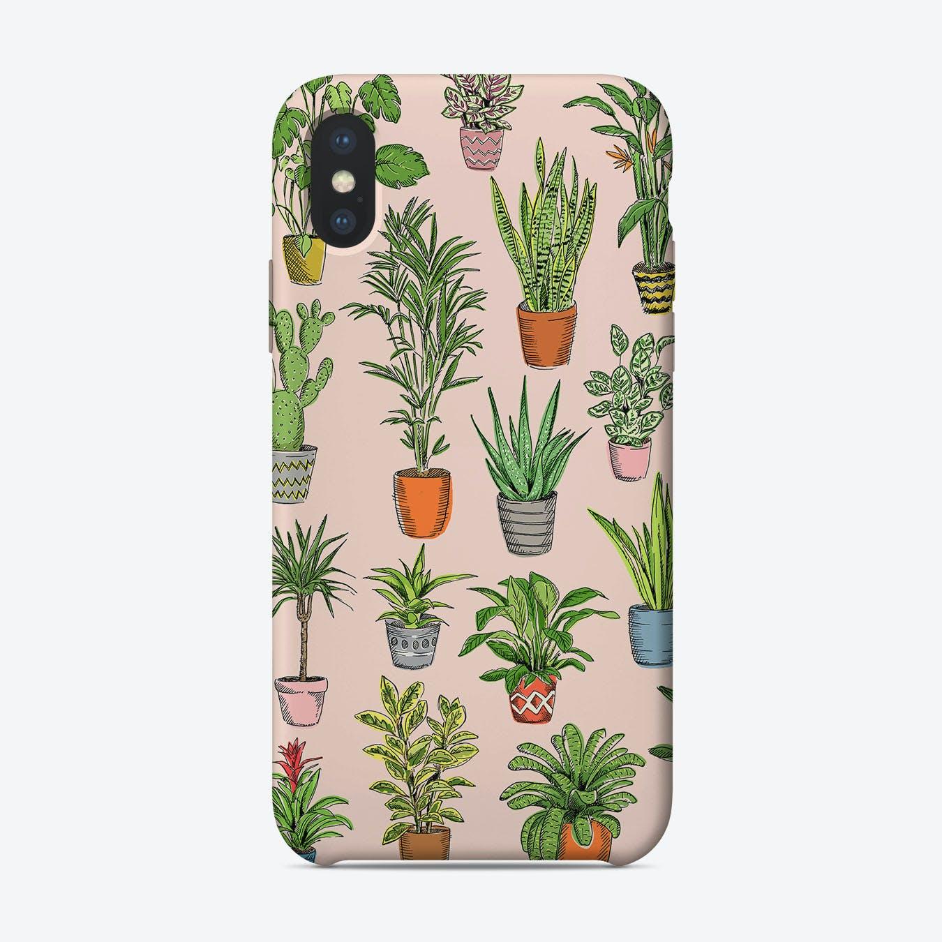 Houseplants Pink iPhone Case