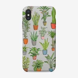 Houseplants Grey iPhone Case