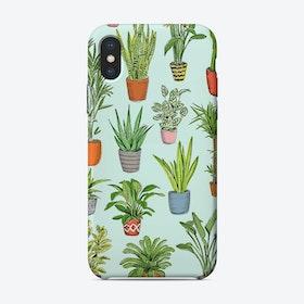 Houseplants Turquoise iPhone Case