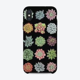 Succulents Black iPhone Case