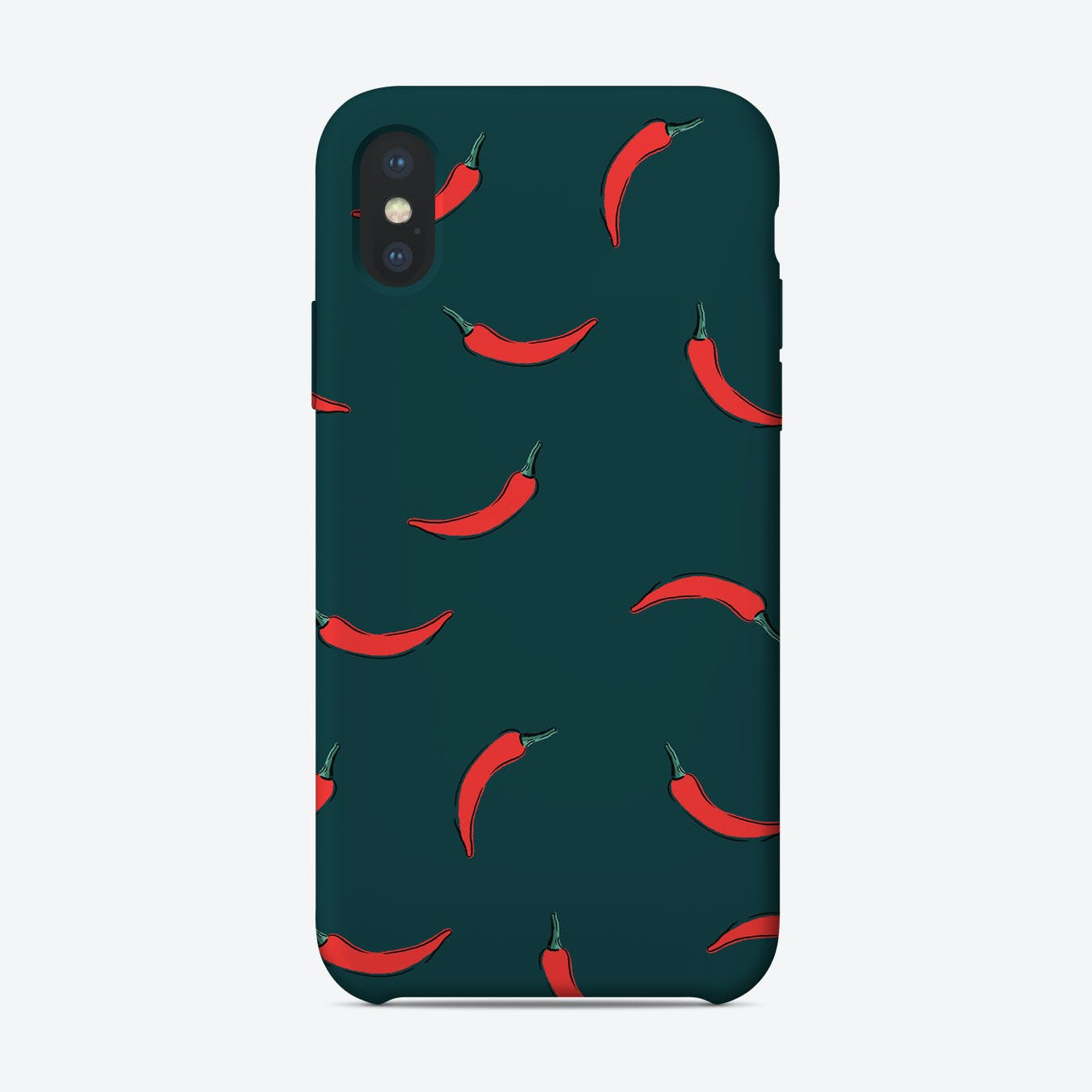 Red Hot Chili Pepper Green iPhone Case