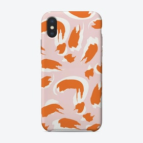Painterly Orange iPhone Case