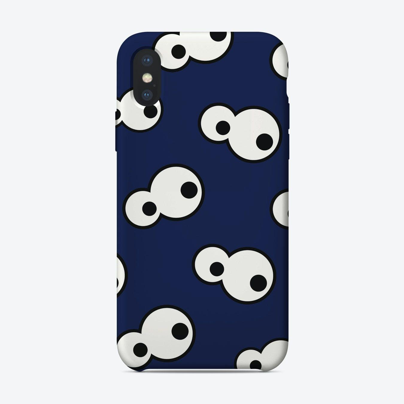 Dark Blue Eyes iPhone Case