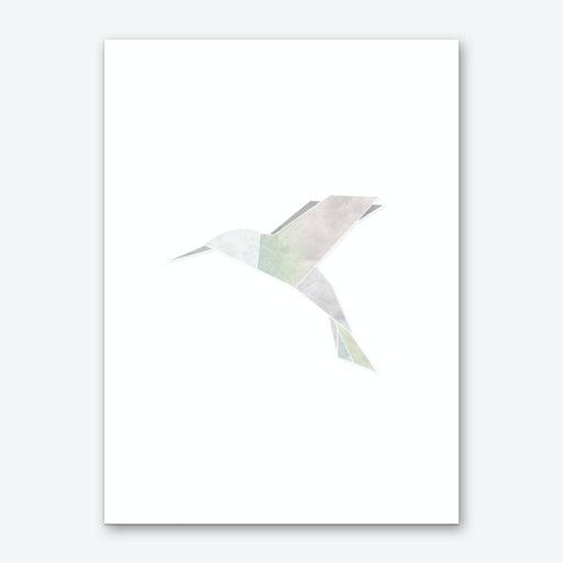 Origami Hummingbird Art Print
