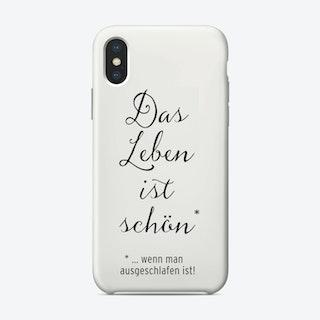 Das Leben Ist Schön iPhone Case