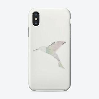 Origami Hummingbird iPhone Case