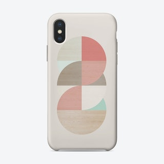 Wooden Circles iPhone Case