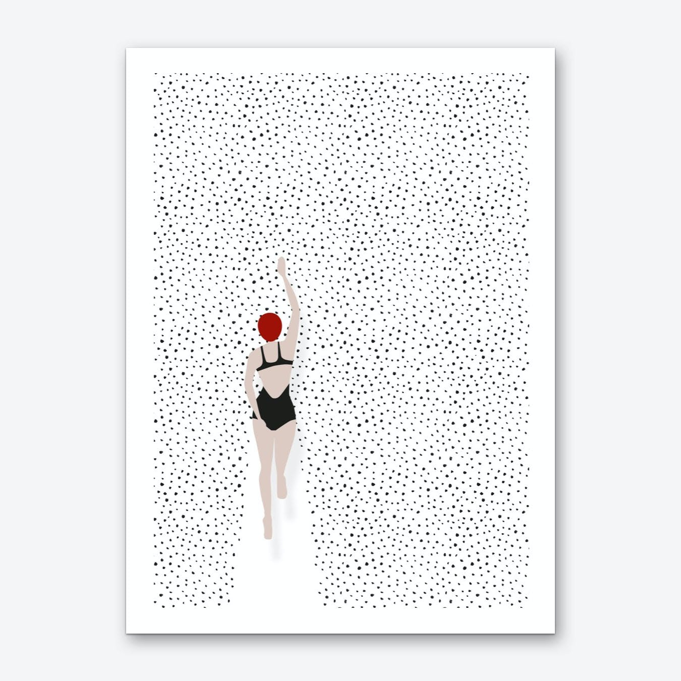 Swimming Points Art Print