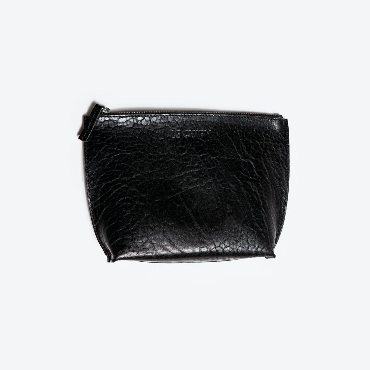 Husky Toiletry Bag in Black/Saddle