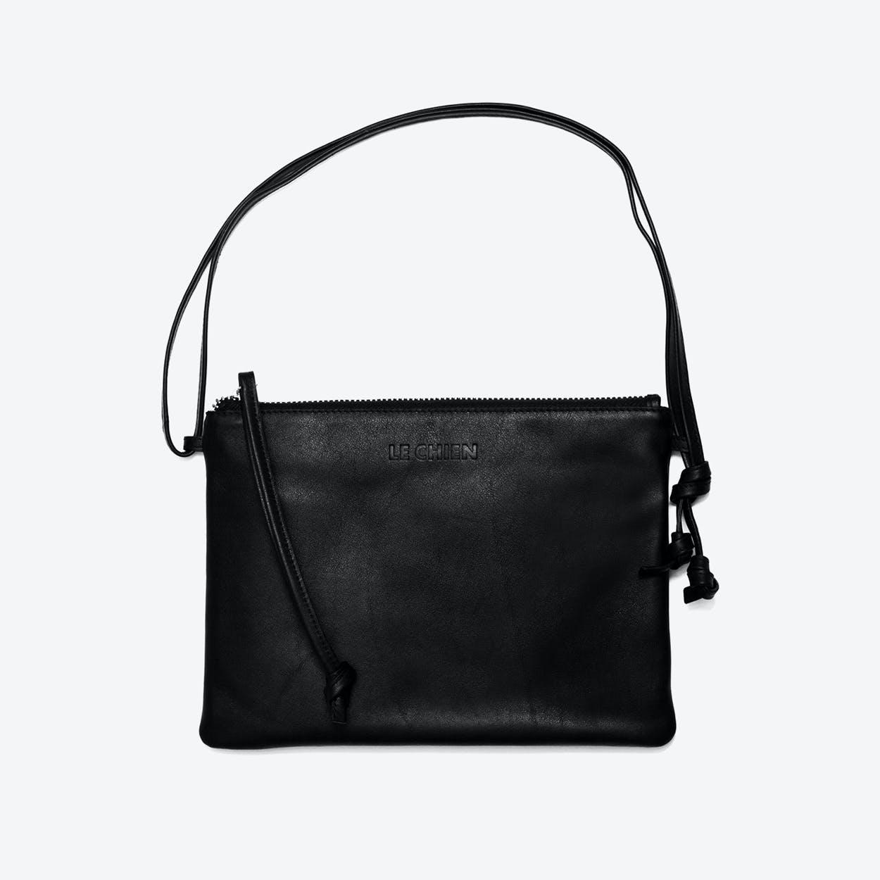 Pinscher Crossbody Bag in Black/Nappa