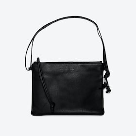 Pinscher Crossbody Bag in Black/Nappa