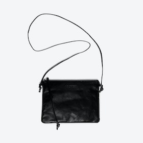 Pinscher Crossbody Bag in Black/Shine