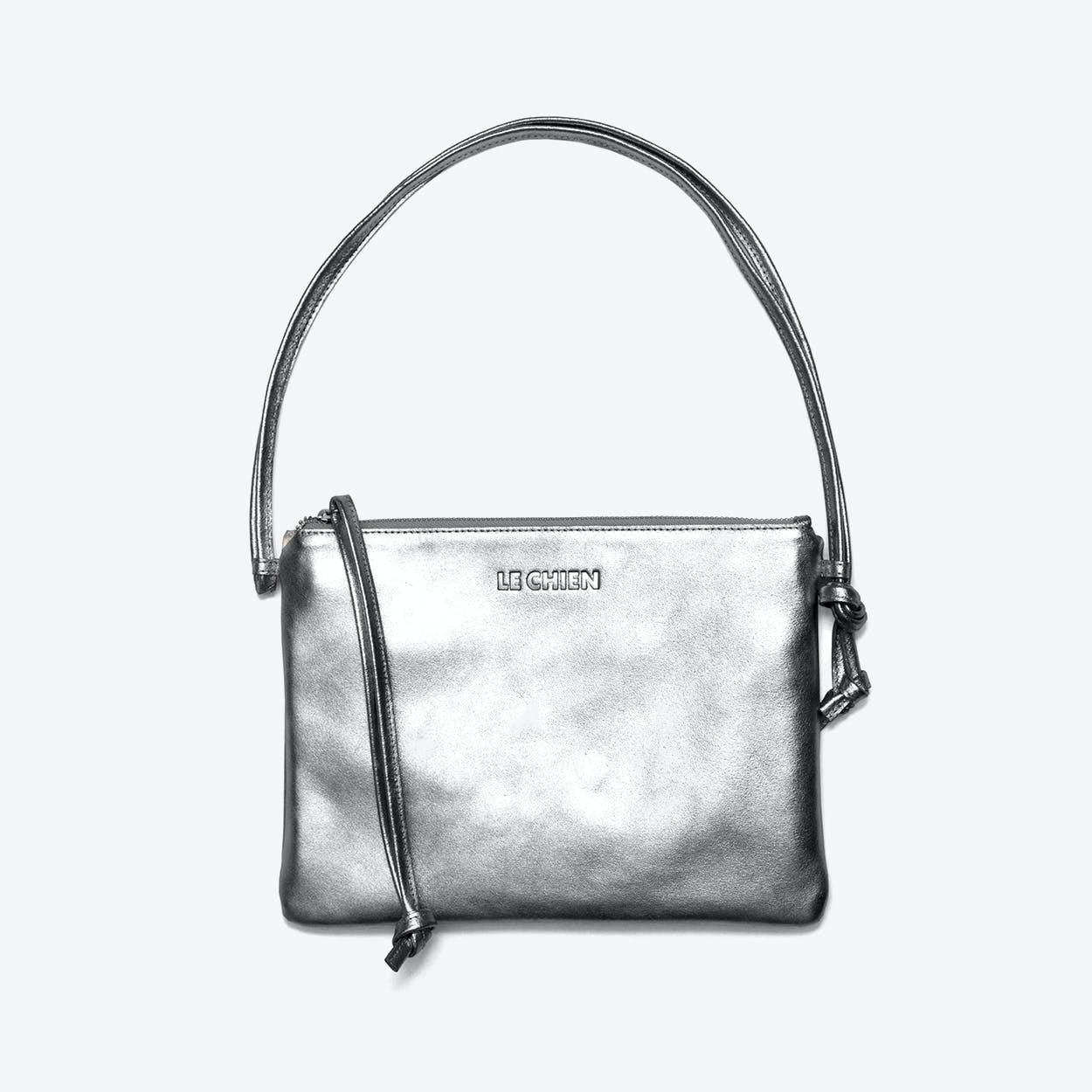 Pinscher Crossbody Bag in Silver/Metallic