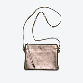 Pinscher Crossbody Bag in Copper/Metallic