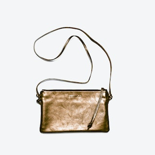 Pinscher Crossbody Bag in Bronze/Metallic