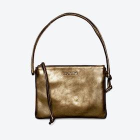 Pinscher Crossbody Bag in Bronze/Metallic