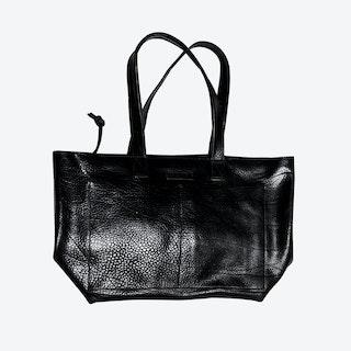 Labrador Tote Bag in Black/Saddle