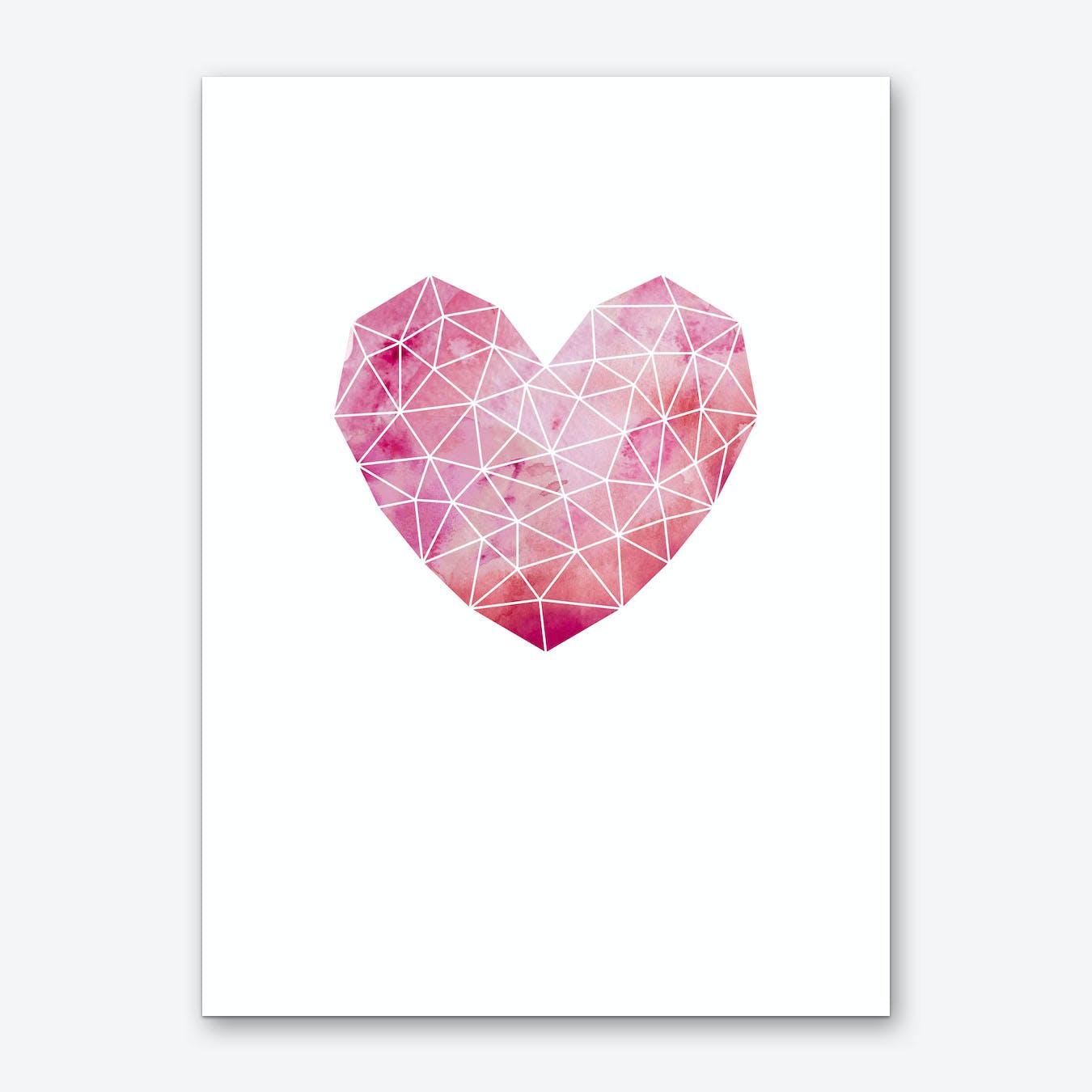 Geometric Heart Art Print