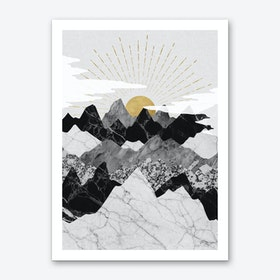 Sunrise & Mountains Art Print
