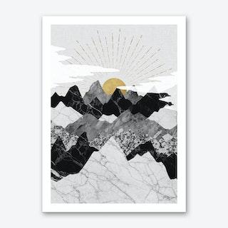 Sunrise & Mountains Art Print