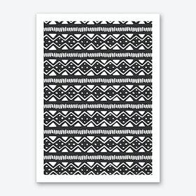 Scandi Pattern No 2 Art Print