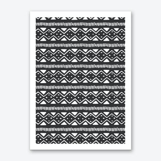 Scandi Pattern No 2 Art Print