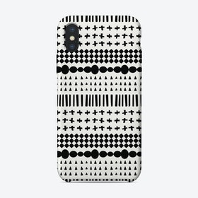 Scandi Pattern No 3 iPhone Case