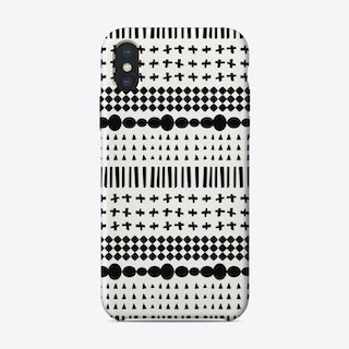 Scandi Pattern No 3 iPhone Case