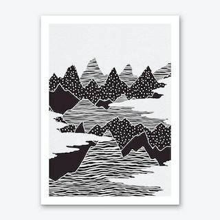 Mountain Peaks Art Print