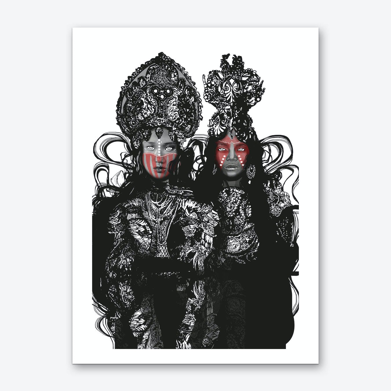 Two Crowns Wall Art