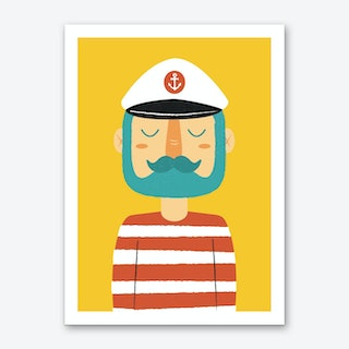 Ahoy Sailor Art Print