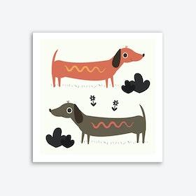 Wiener Dogs Art Print