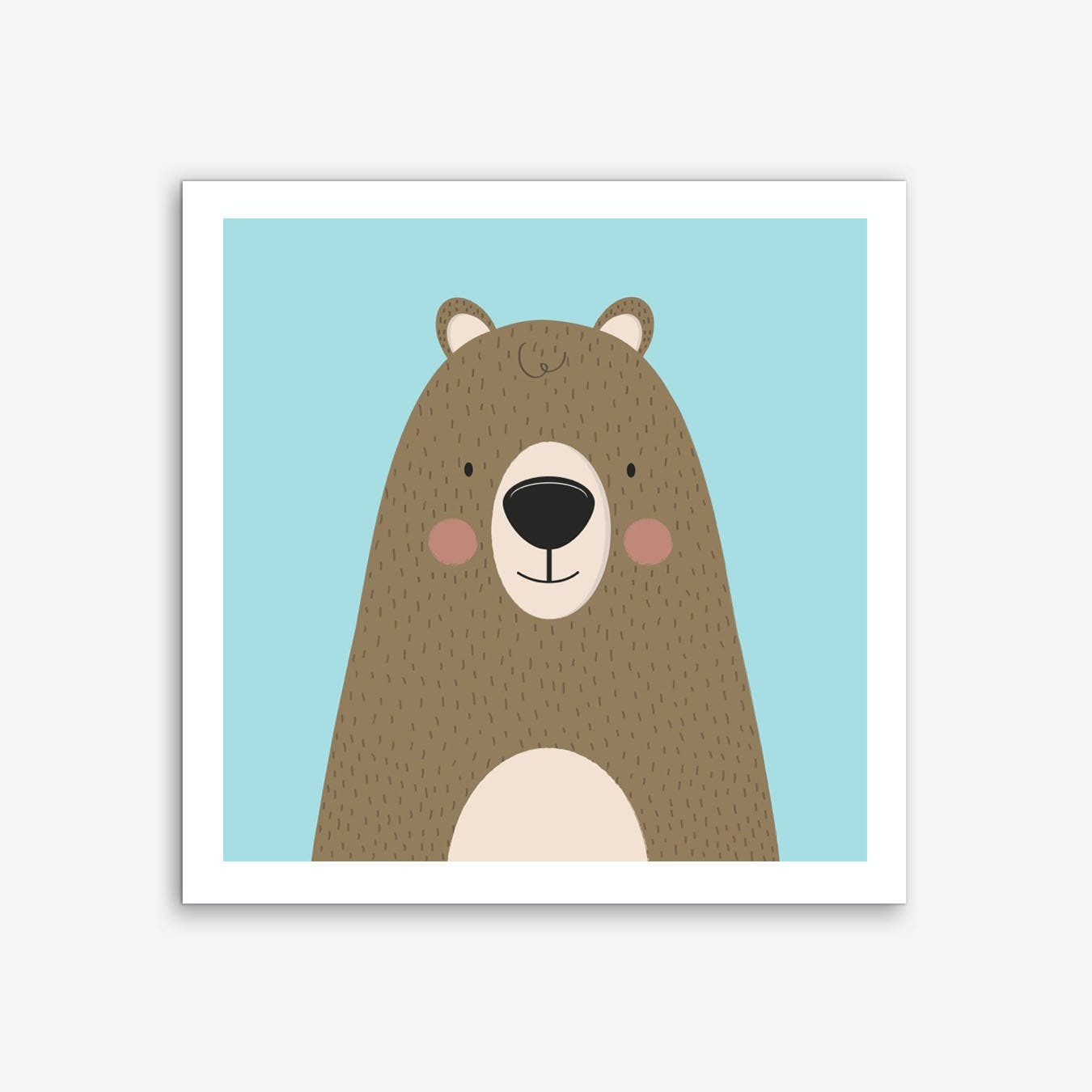 Bears Are Friendly Art Print